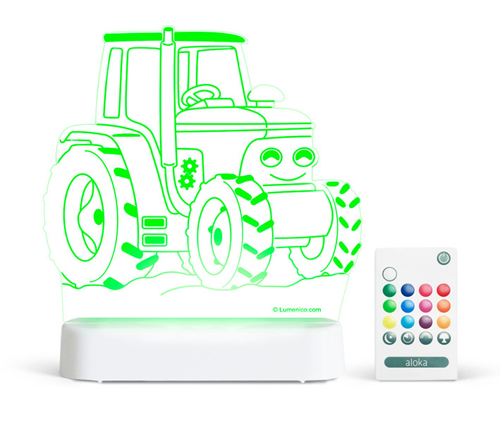 Aloka_Nightlight_Product_Shot_Tractor_White_Green_With_Remote.jpg