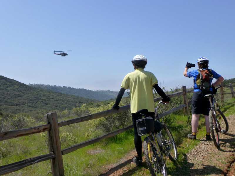 Cable to biker from SDFD helicopter