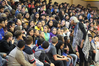 Center Middle School hosts Retha Swindell for Black History Month program