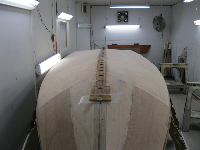 Front view of keel cap installed.