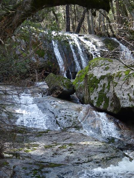 Bass Lake waterfall 2