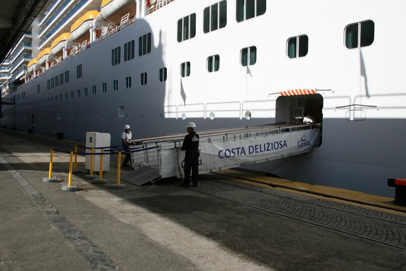M/S COSTA DELIZIOSA in Napoli : crew's gangway.