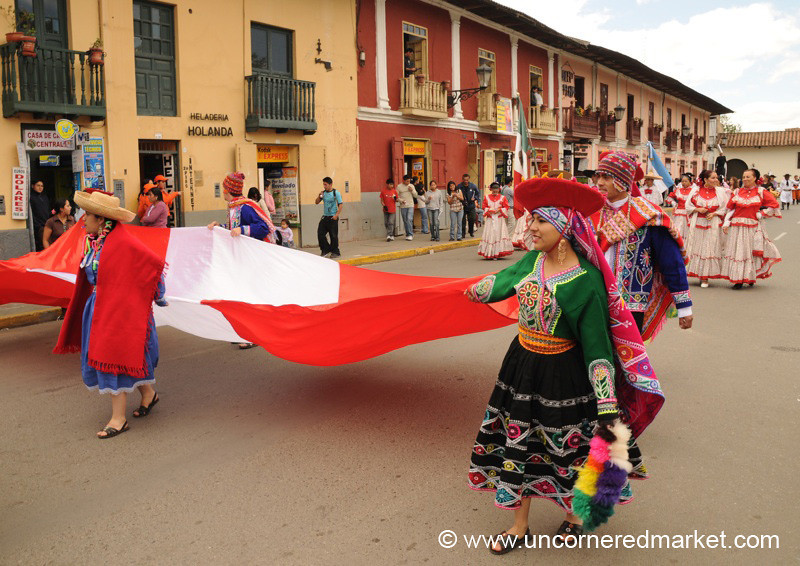 Peruvian Dance Procession - Cajamarca, Peru