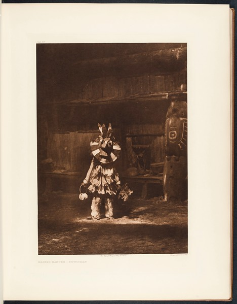 The North American Indian, vol. 9 suppl., pl. 326. Masked dancer - Cowichan