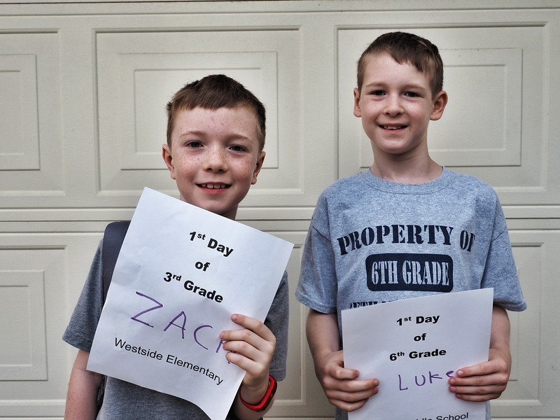 Zach and Luke | 3rd and 6th | Westside Elementary School and Henry Middle School