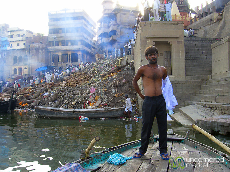 Getting Ready for an Evening Boat Ride - Varanasi, India