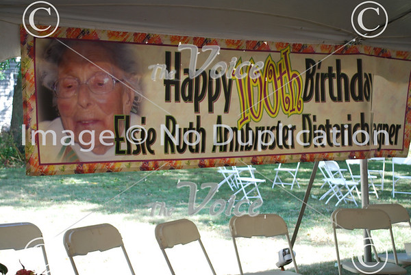 Ruth Dieterich Wagner 100th Birthday celebration in Montgomery, IL 8-4-12