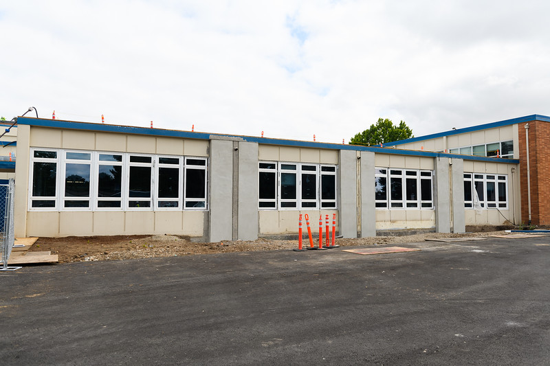 New seismic window upgrades in McNary High School's cafeteria on Friday, August 16, 2019, in Keizer, Ore.