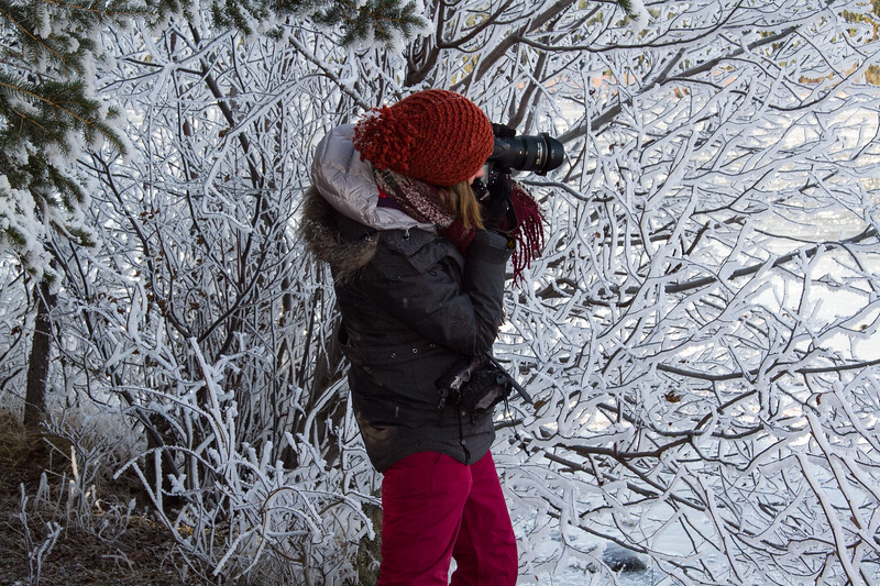 Shooting Hoarfrost at Pyramid Lake
