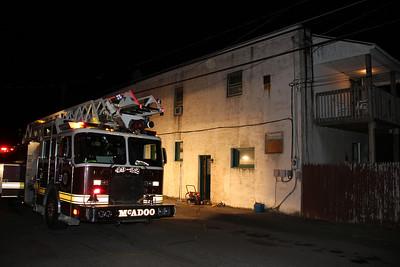 Basement Fire Response, W. Sherman St, McAdoo (6-27-2012)