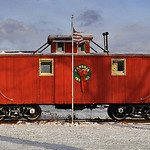 Red Caboose in Kinsman (vintage, and not my picture)