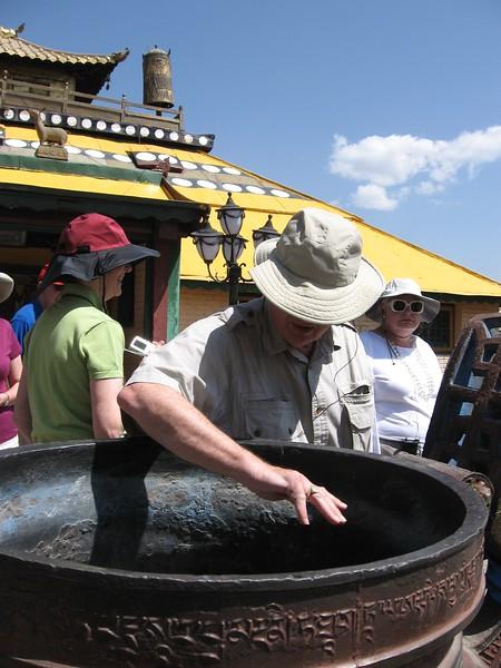 Purifying of hands at Gandan - Leslie Rowley