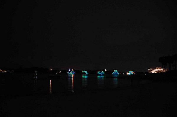 Electrical Water Pageant and Summer Nightastic! Fireworks from Disney's Polynesian Resort