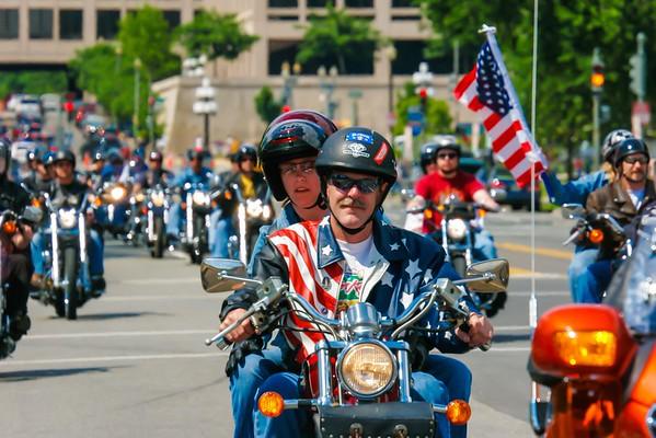 Rolling Thunder Washington DC Memorial Day Honoring Veterans