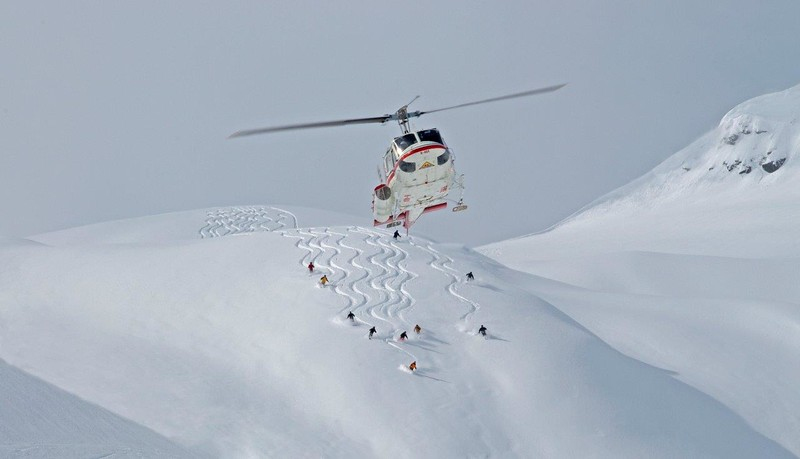 Heli skiing movies