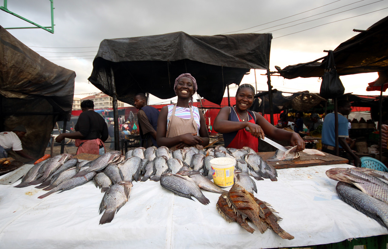 Fish market in Nairobi, Kenya