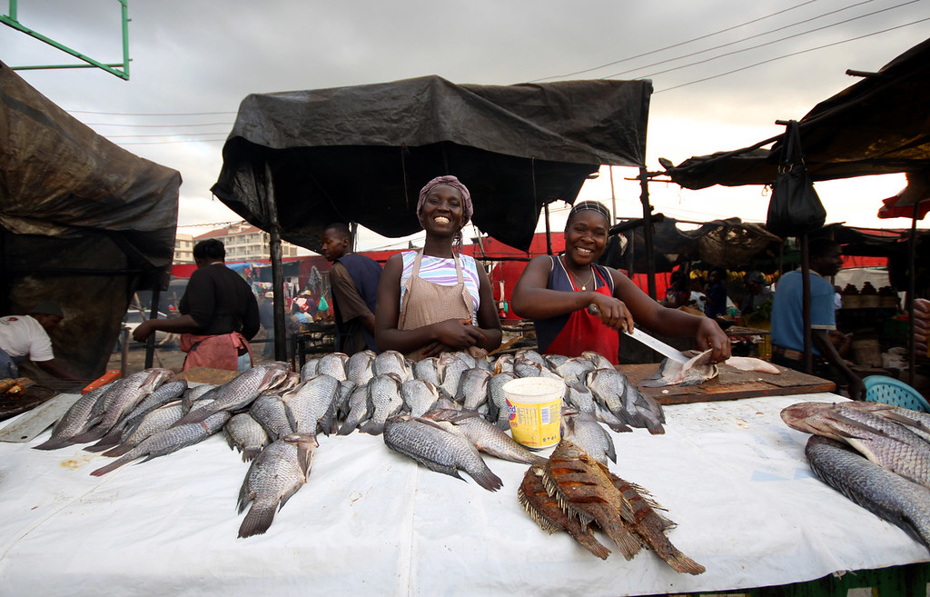 Fish market in Nairobi, Kenya