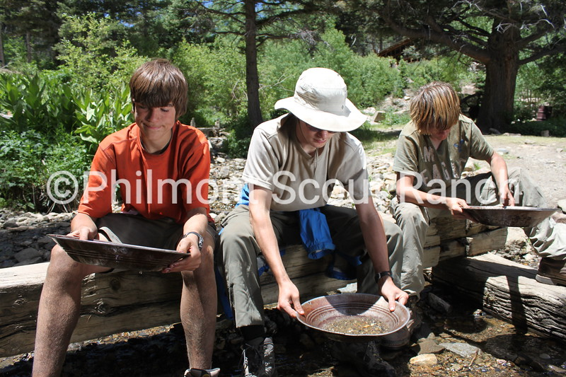 Scouts panning for gold at French Henry.JPG