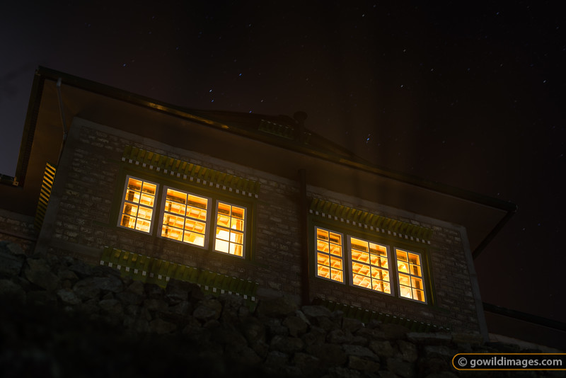 Stars in the mist, Yeti Mountain Home lodge, Namche