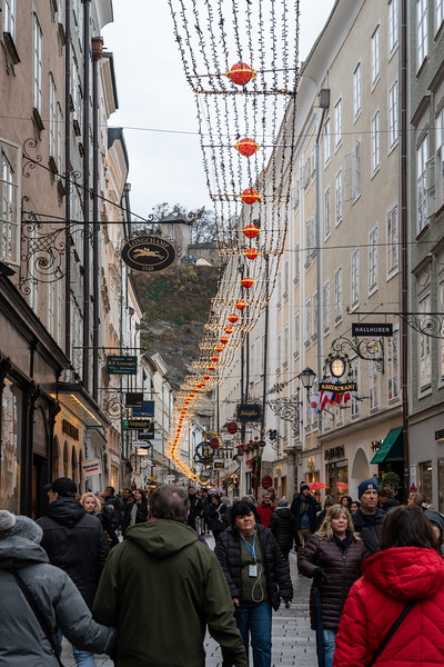 Decorations line the streets