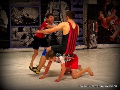 Battle scenes of warriors in Fightman MMA Club Bochnia december 2015