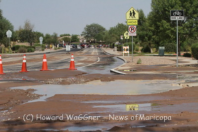 Water Main Break at Butterfield 8/2/2018a