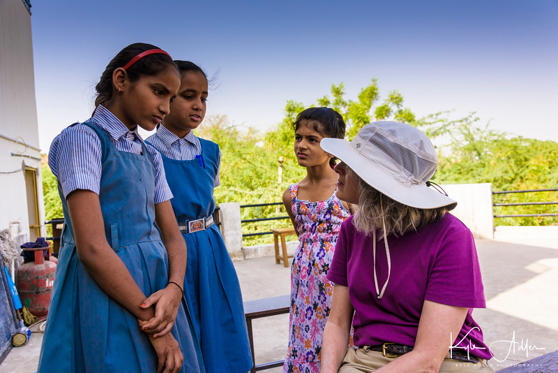 These two sixth-grade girls hope to become engineers when they grow up.  They were very happy to meet Mary, a female engineer herself, and to learn about careers in the field.