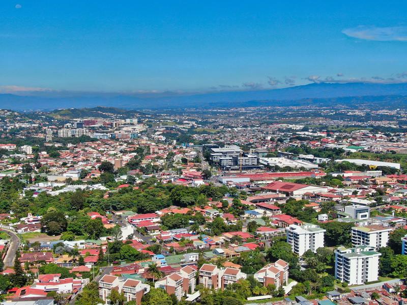 East view of Escazu Costa Rica