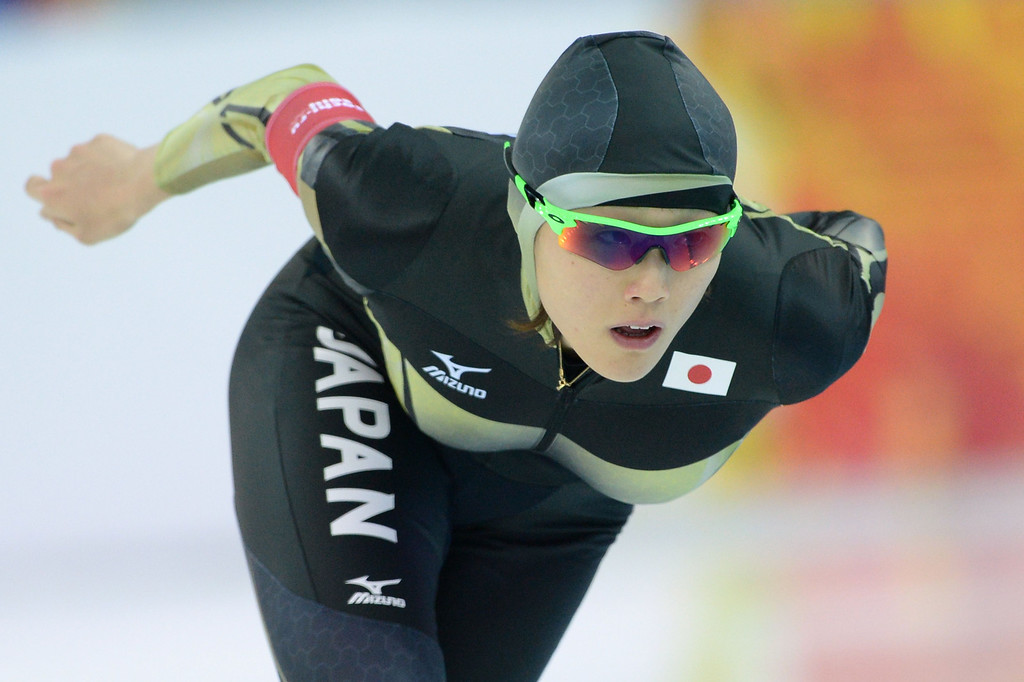 . Japan\'s Shiho Ishizawa competes in the Women\'s Speed Skating 3000m at the Adler Arena during the Sochi Winter Olympics on February 9, 2014.     ANDREJ ISAKOVIC/AFP/Getty Images