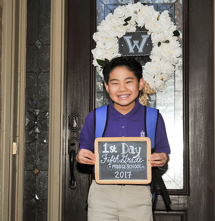 Spencer -1st day Middle School