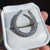 1.60ctw Horseshoe Conversion Ring 4