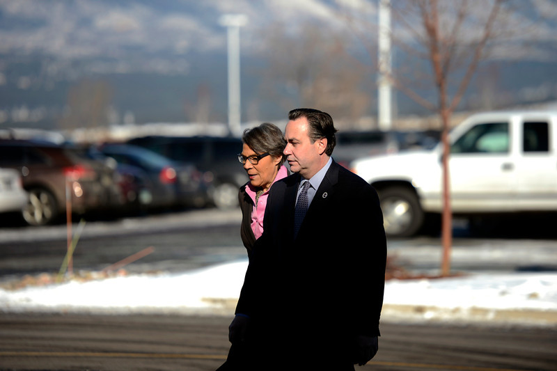 . State Legislators arrive at the public memorial service for Tom Clements at the New Life Church in Colorado Springs. March 25, 2013 Colorado Springs, Colorado. (Photo By Joe Amon/The Denver Post)