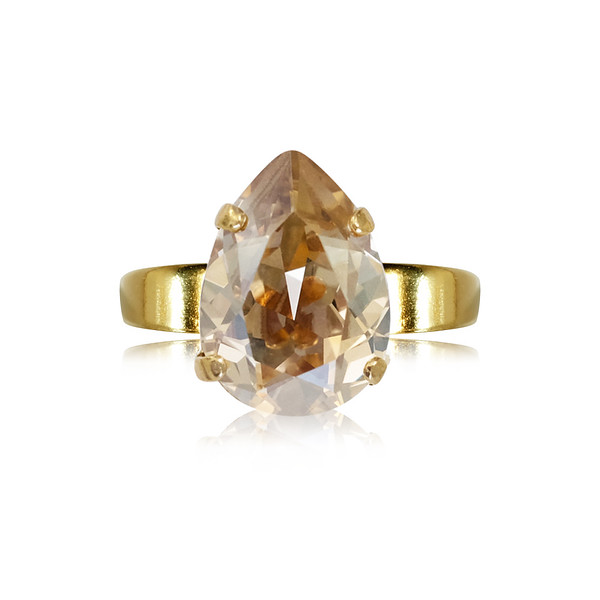 Mini Drop Ring / Golden Shadow Gold
