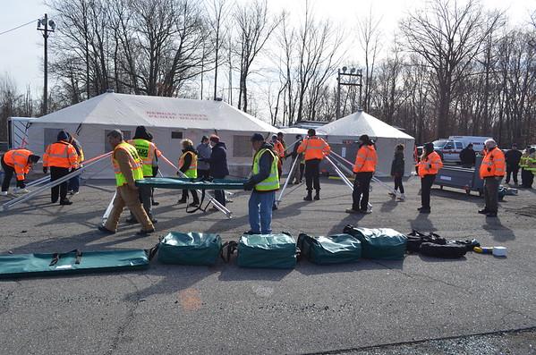 February 27, 2016 - Bergen County, NJ OEM Western Shelter Tent Deployment.