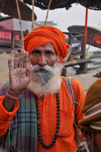 Hindu holy man in Varanasi.