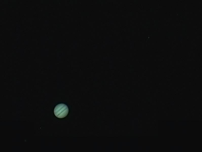Jupiter with Europa, Io & Ganymede, Callisto - 29/3/2015 (Processed stack)