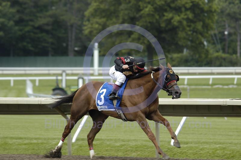 A Stronach Stables horses wins at Monmouth Park, Oceanport, NJ.