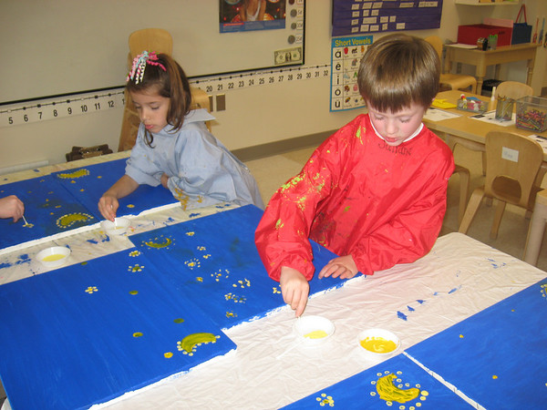 Kindergarten (photos from his teacher)