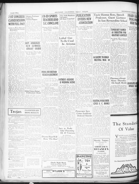 Daily Trojan, Vol. 22, No. 99, March 04, 1931