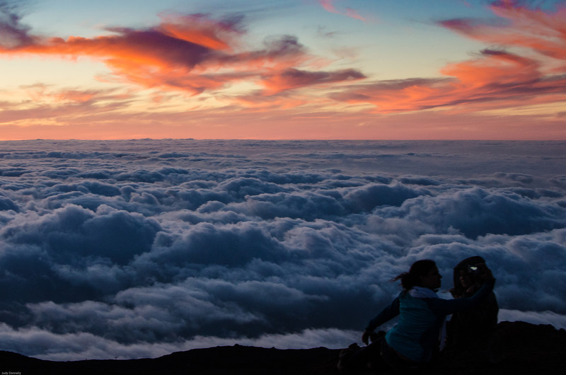 Sunset at Haleakala Maui  10,000 ft.