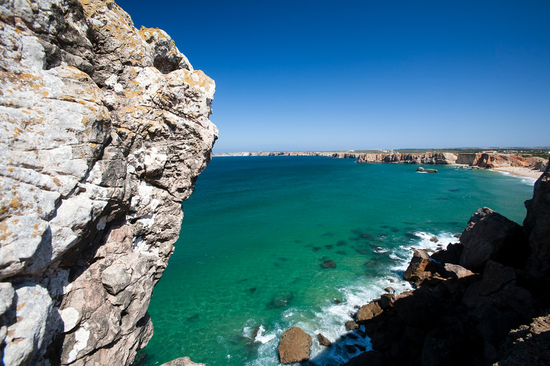 Coastline at Sagres, municipality of Vila do Bispo, district of Faro, region of Algarve, southwestern Portugal