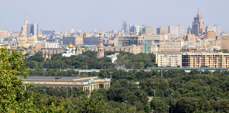 Moscow skyline from Sparrow Hill.