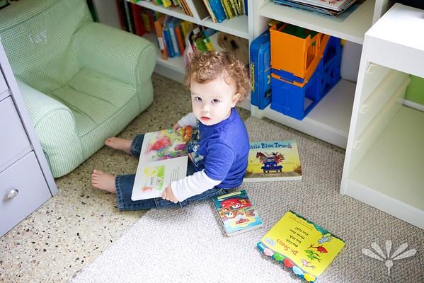 Luc reading