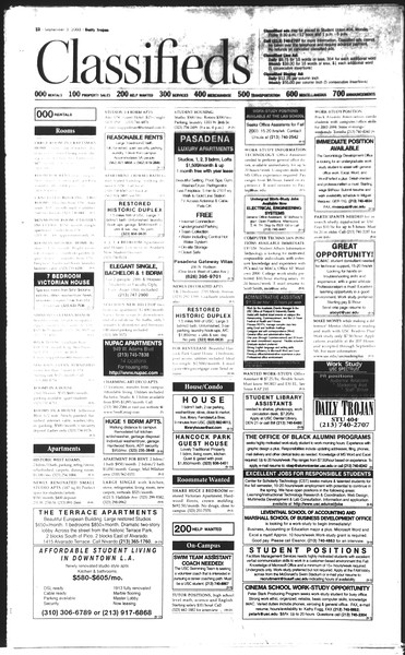 Daily Trojan, Vol. 150, No. 6, September 03, 2003
