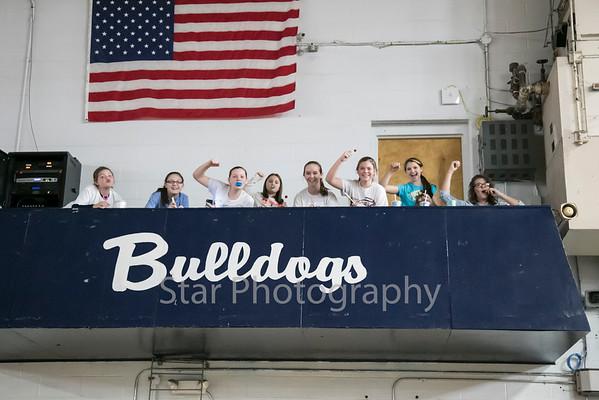 Fans Watch Hampton Bulldogs On Big Screen In Hampton High School's Gym 03-12-15