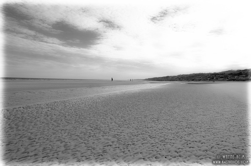 Omaha Beach 6  Black and White  Photography by Wayne Heim