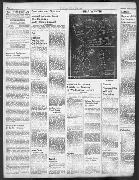 Daily Trojan, Vol. 29, No. 95, March 10, 1938