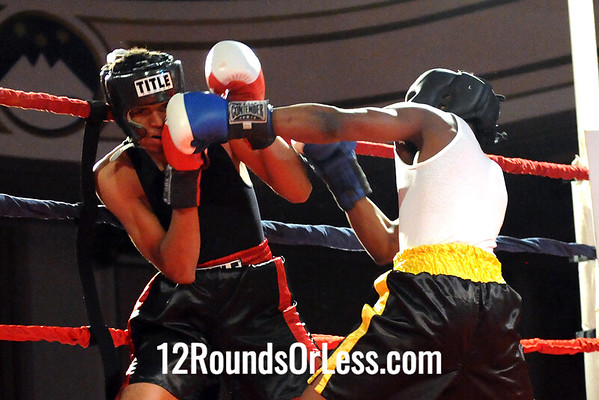 Bout 3 Martell Adams, Al Jones BC, Cleve HS -vs- Joshua Taylor, MJ Zone Rec, Cleve HS-132 lbs, Sub-Novice