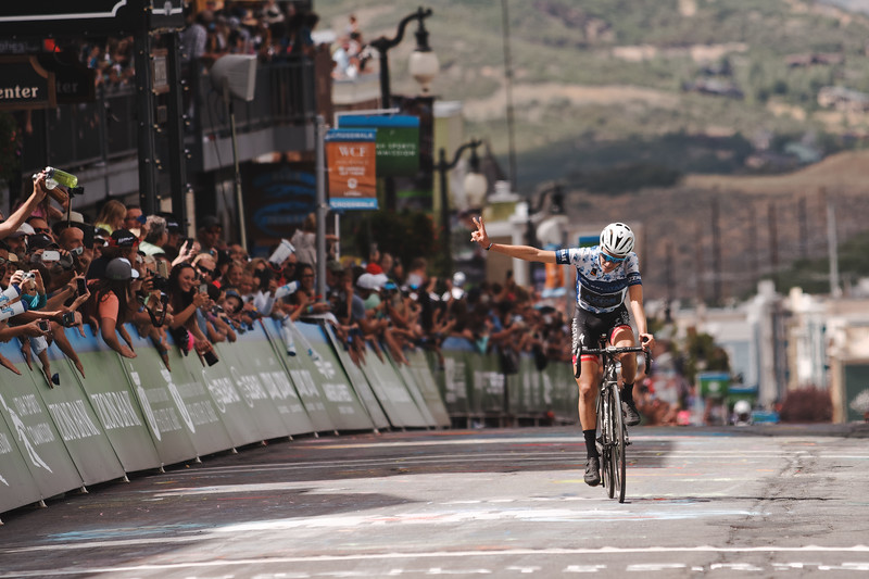 Adrien Costa finishes 2nd, Larry H. Miller Tour of Utah Stage 7, August 2016