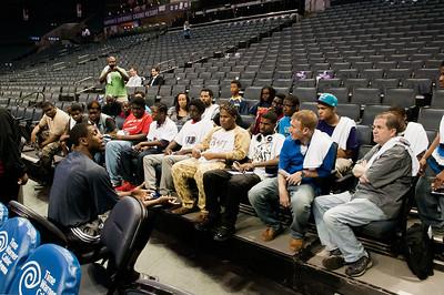 RISE Mentoring Program - South Meck High School @ Bobcats vs Sixers 4-12-14 by Jon Strayhorn